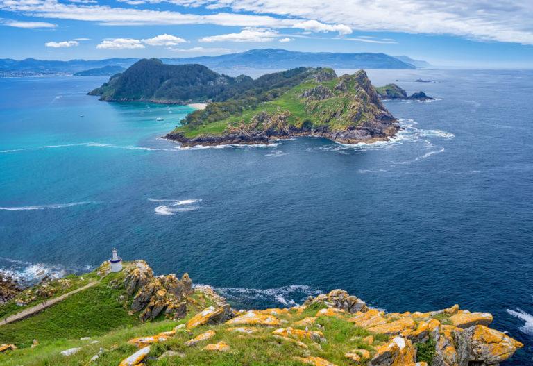 Islas Cíes desde el cielo