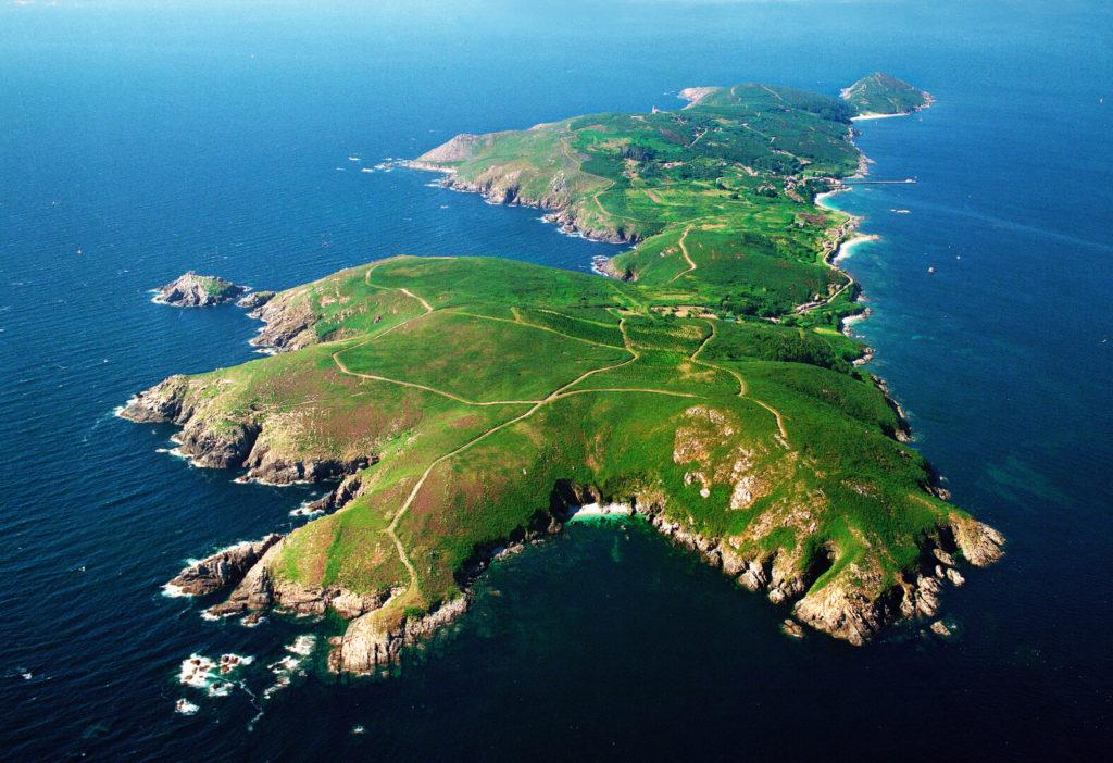 vista aérea de la isla de ons